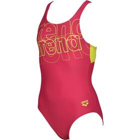 arena Spotlight Pro Back One Piece Swimsuit Girls, roze